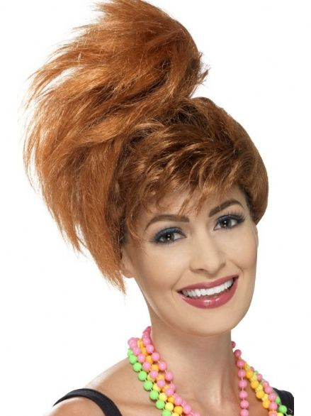 1980's Side Ponytail Fringe Wig